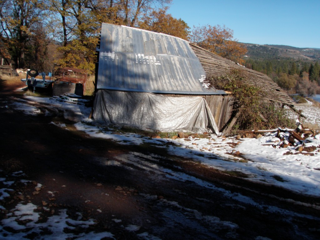 For a few years, we tarped the side of the barn and stored hay there, but it was a losing battle.